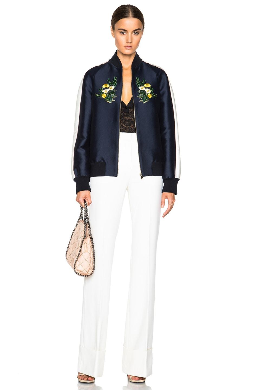 Image 7 of Stella McCartney Lorinda Botanical Embroidery Jacket in Ink