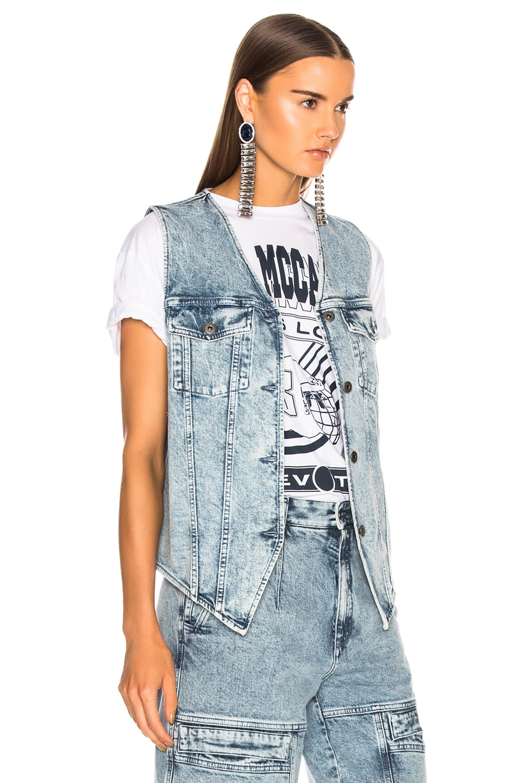 Image 2 of Stella McCartney Harley Denim Vest in Acid Blue