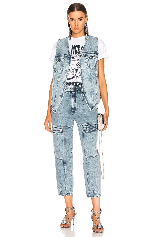 Image 4 of Stella McCartney Harley Denim Vest in Acid Blue