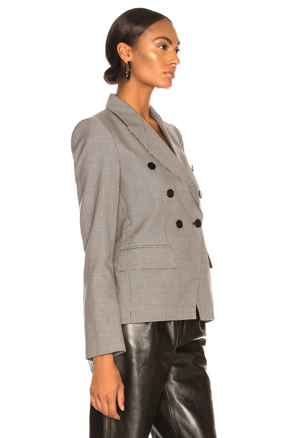 Image 3 of Stella McCartney Robin Double Breasted Blazer in Ink & Ivory