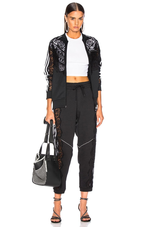 Image 5 of Stella McCartney x adidas Lace Insert Track Jacket in Black