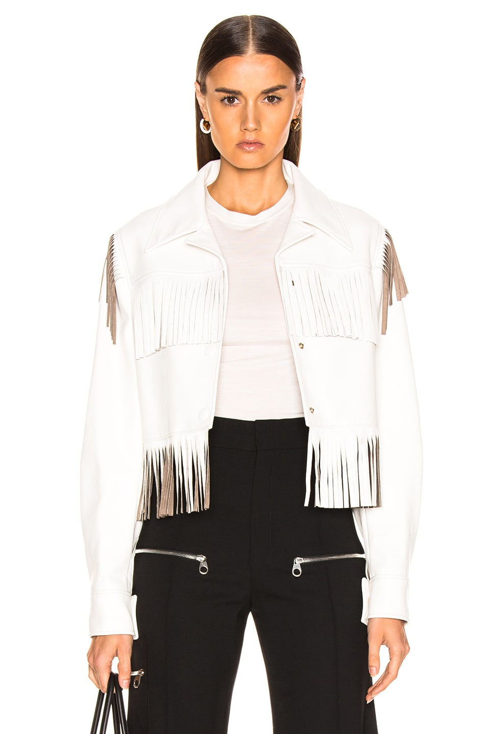 Image 1 of Stella McCartney Fringe Jacket in White