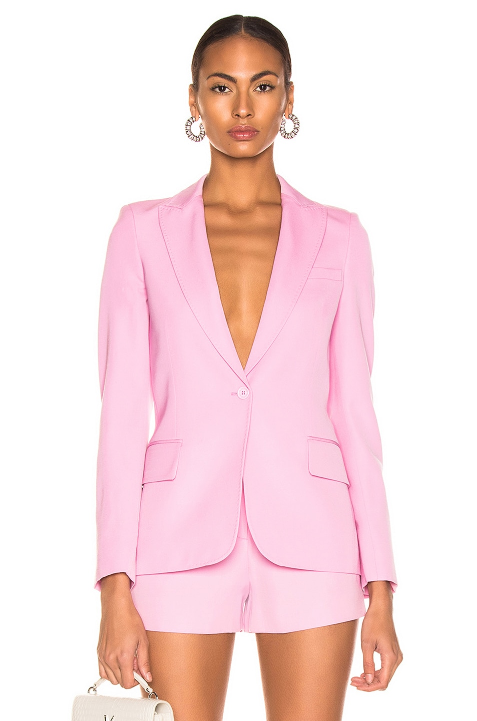 Image 1 of Stella McCartney One Button Blazer in Tulip Pink