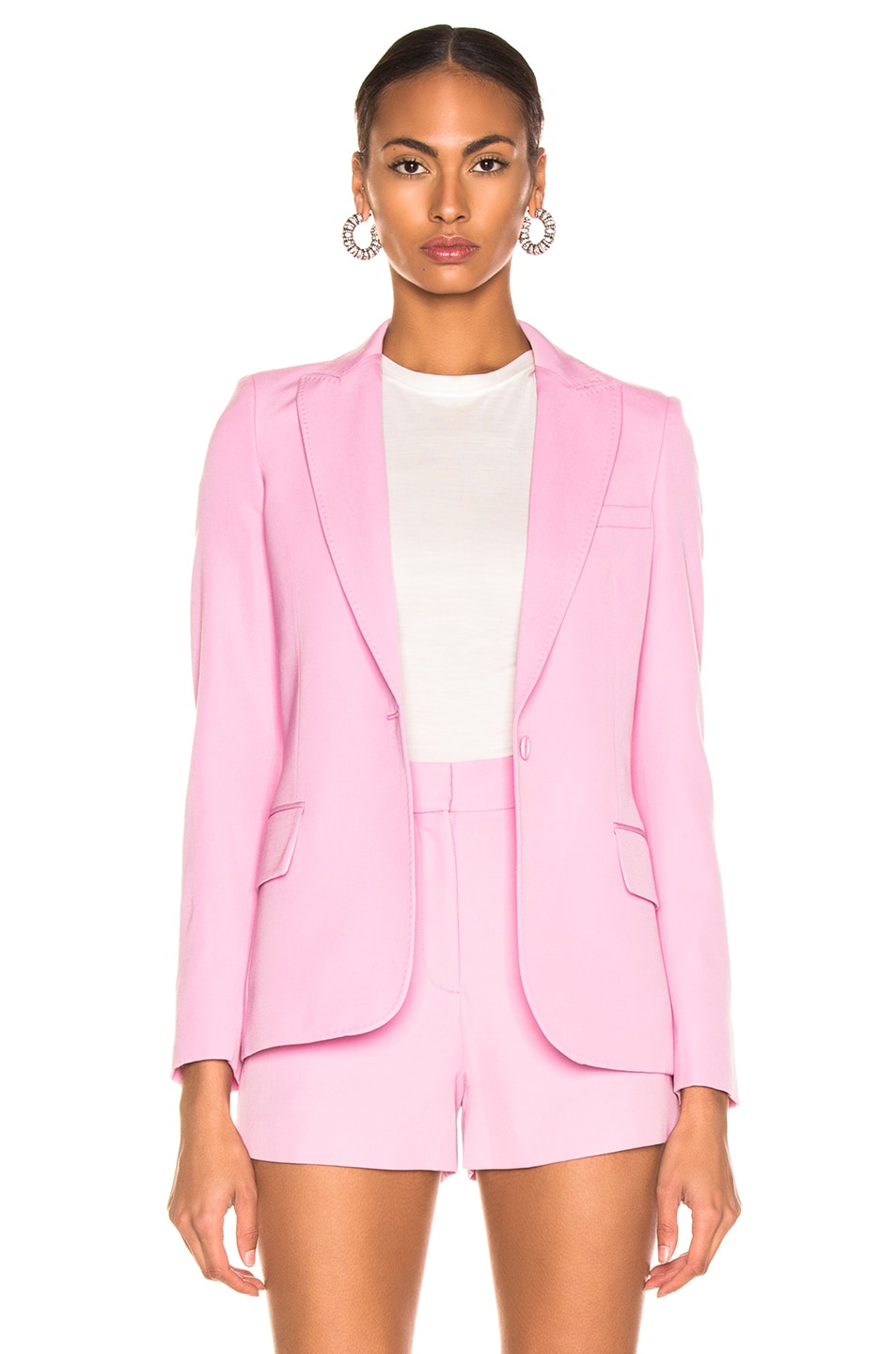 Image 2 of Stella McCartney One Button Blazer in Tulip Pink