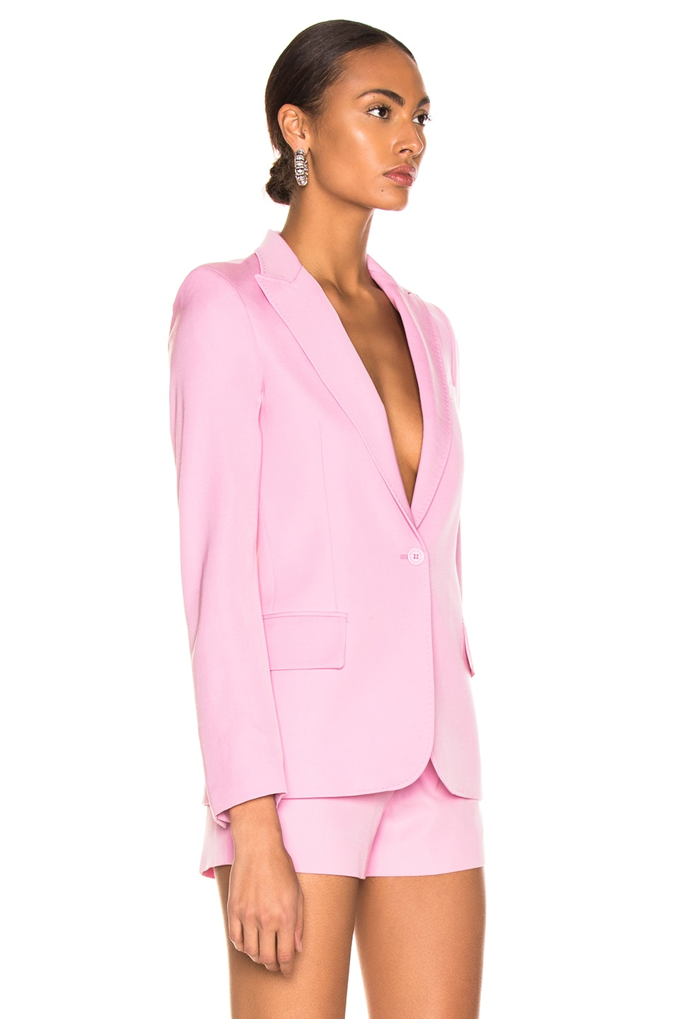 Image 3 of Stella McCartney One Button Blazer in Tulip Pink