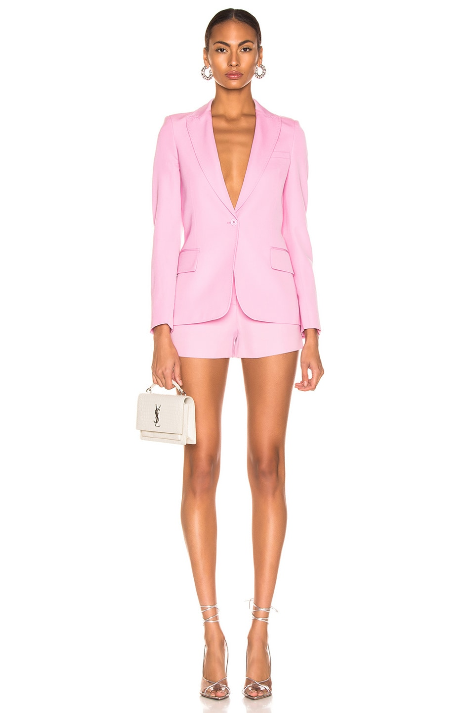 Image 5 of Stella McCartney One Button Blazer in Tulip Pink