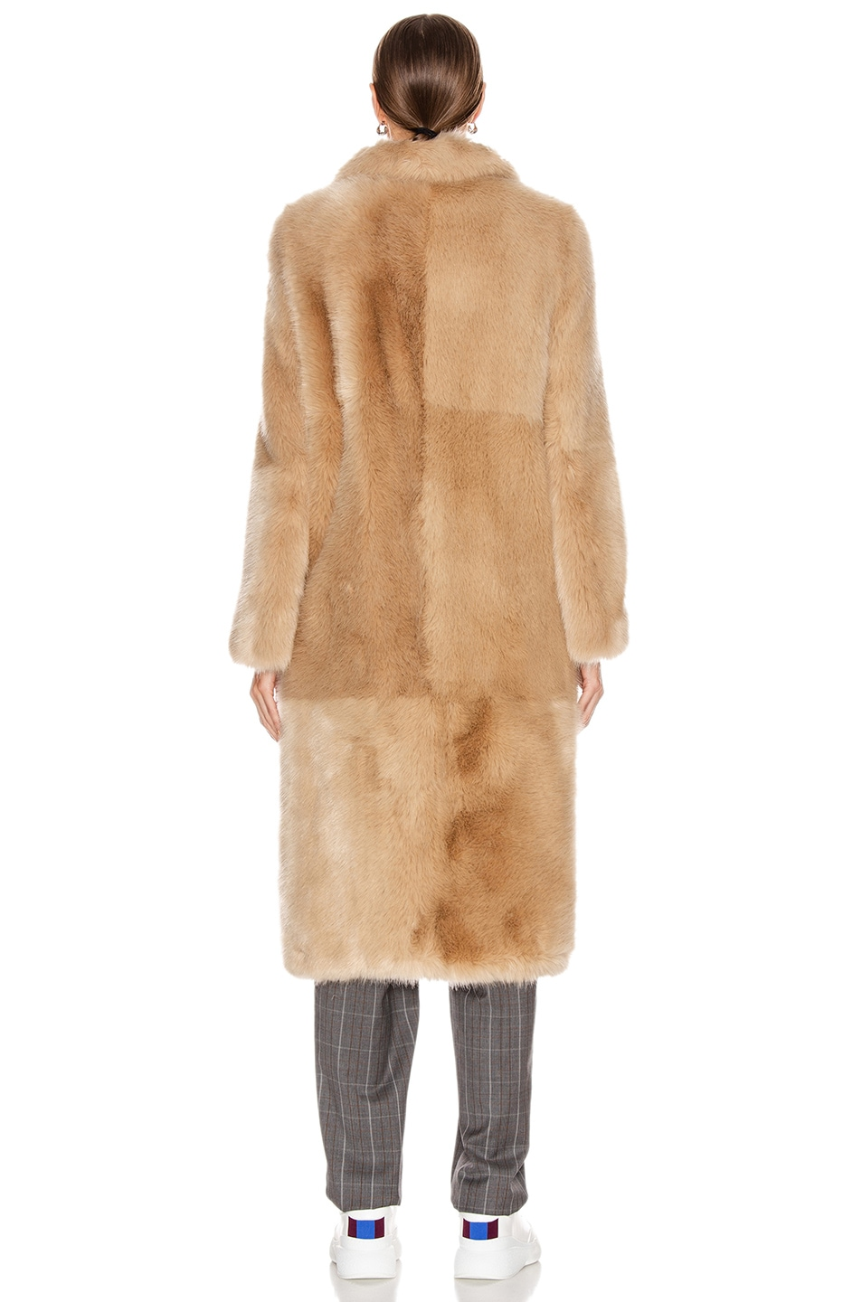 Image 4 of Stella McCartney Blinman Faux Fur Long Coat in Fawn