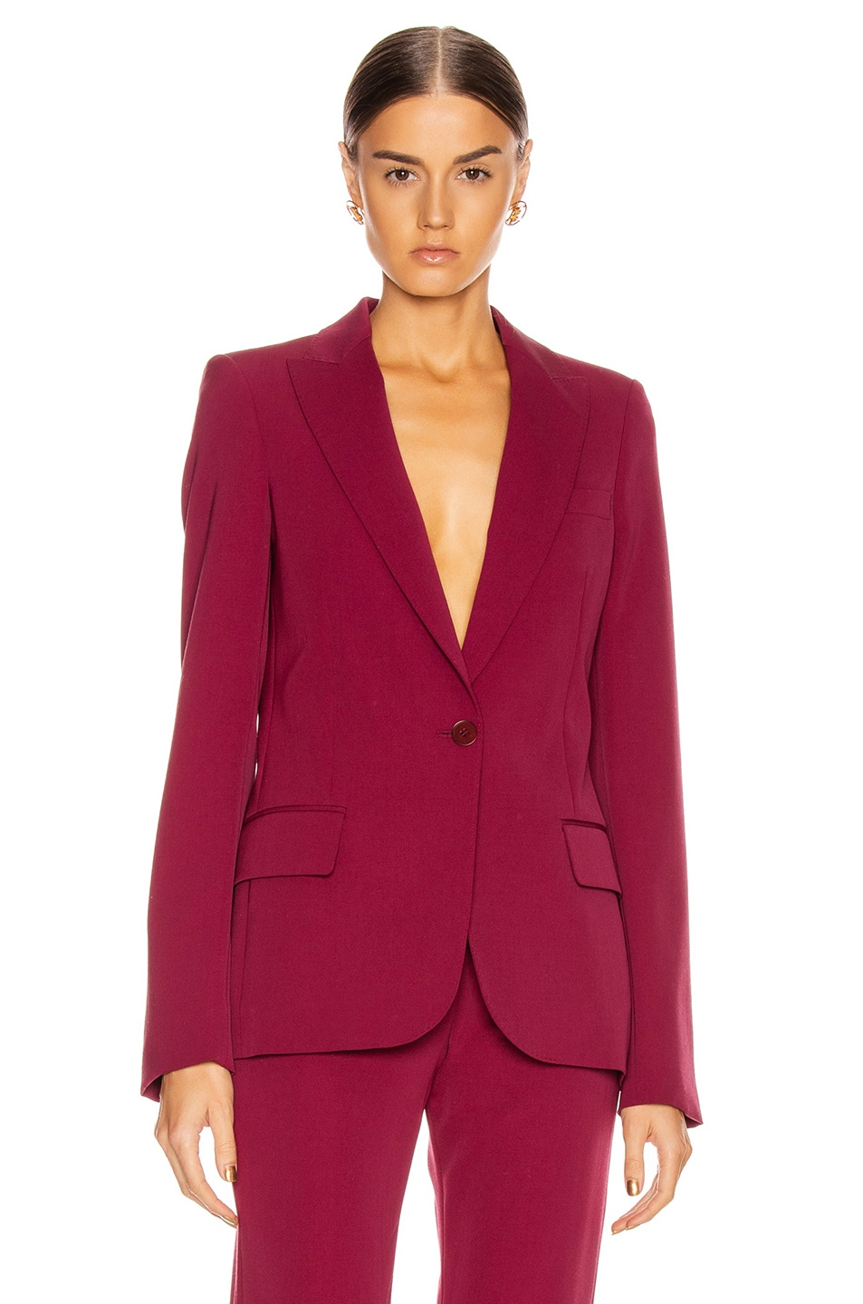 Image 1 of Stella McCartney Tailored Stretch Blazer in Dark Jazzberry