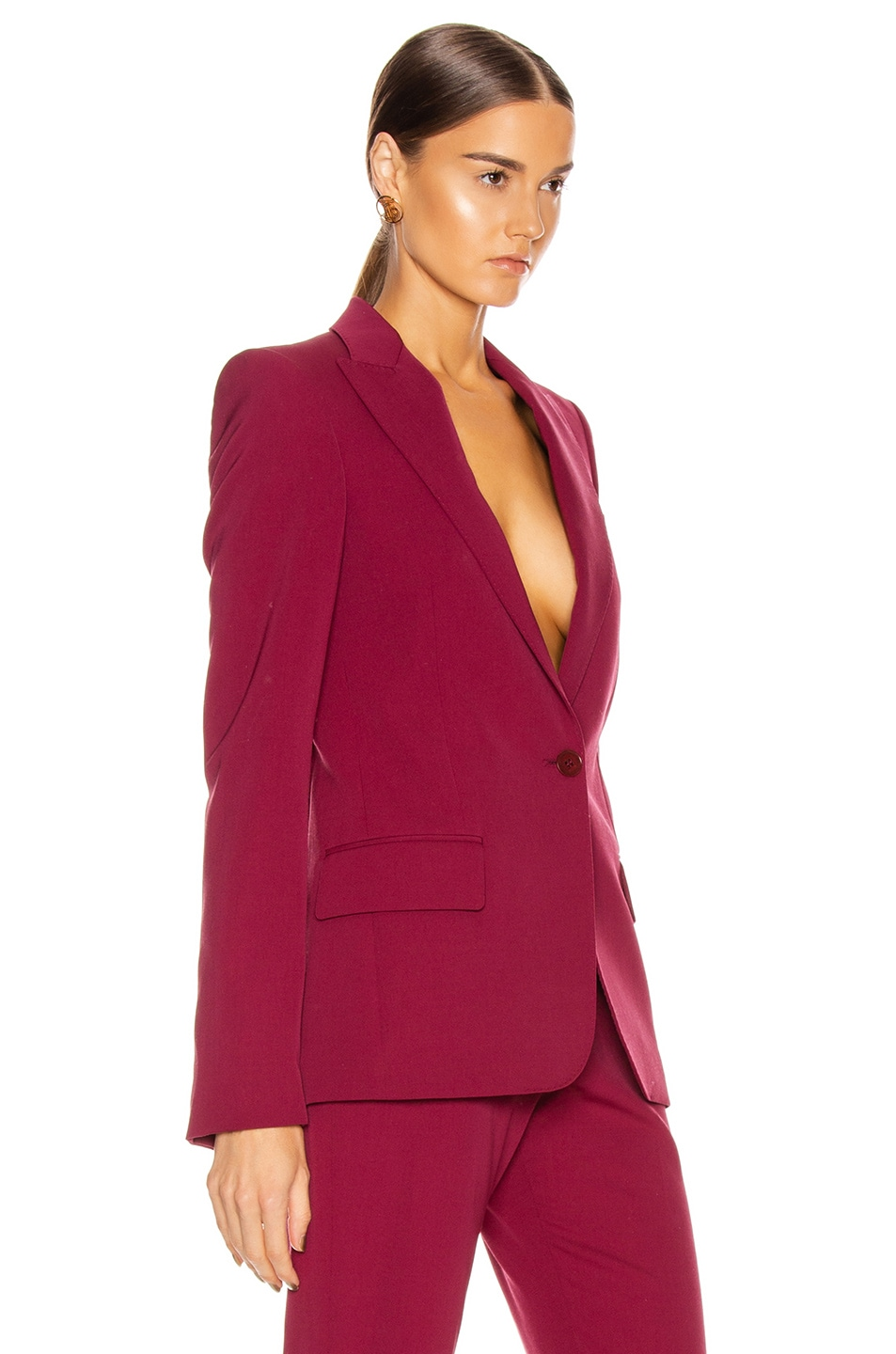 Image 2 of Stella McCartney Tailored Stretch Blazer in Dark Jazzberry
