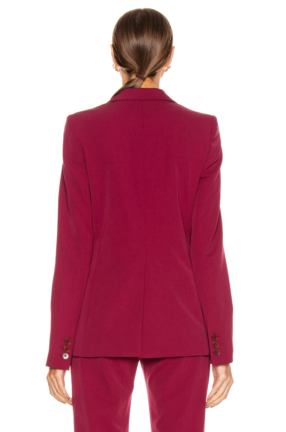 Image 3 of Stella McCartney Tailored Stretch Blazer in Dark Jazzberry