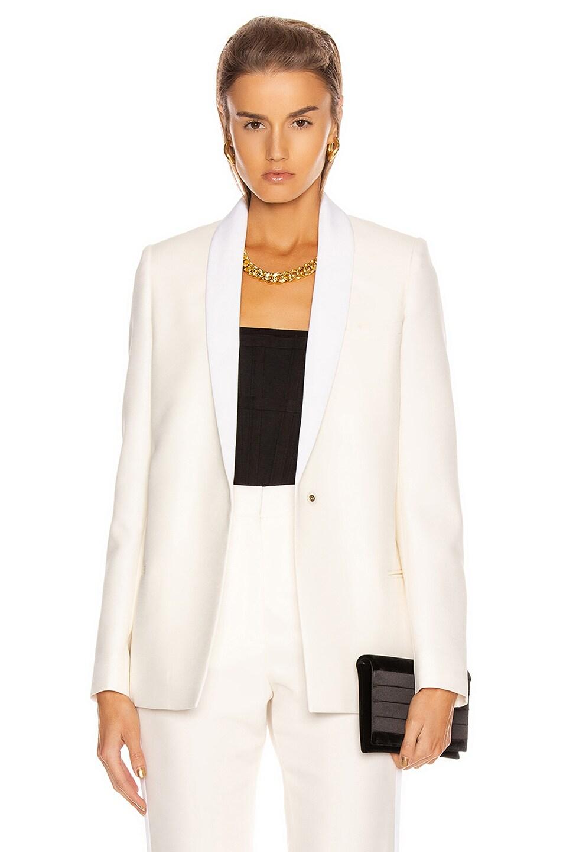 Image 1 of Stella McCartney Mikado Blazer in Winter White