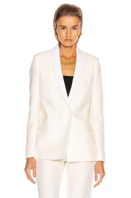 Image 2 of Stella McCartney Mikado Blazer in Winter White