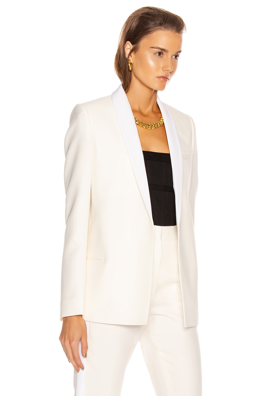 Image 3 of Stella McCartney Mikado Blazer in Winter White