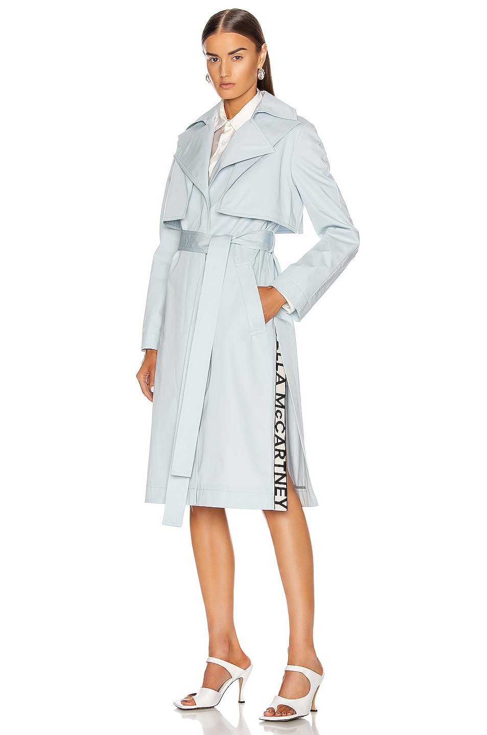 Image 1 of Stella McCartney Melinda Trench Belted Coat in Blue