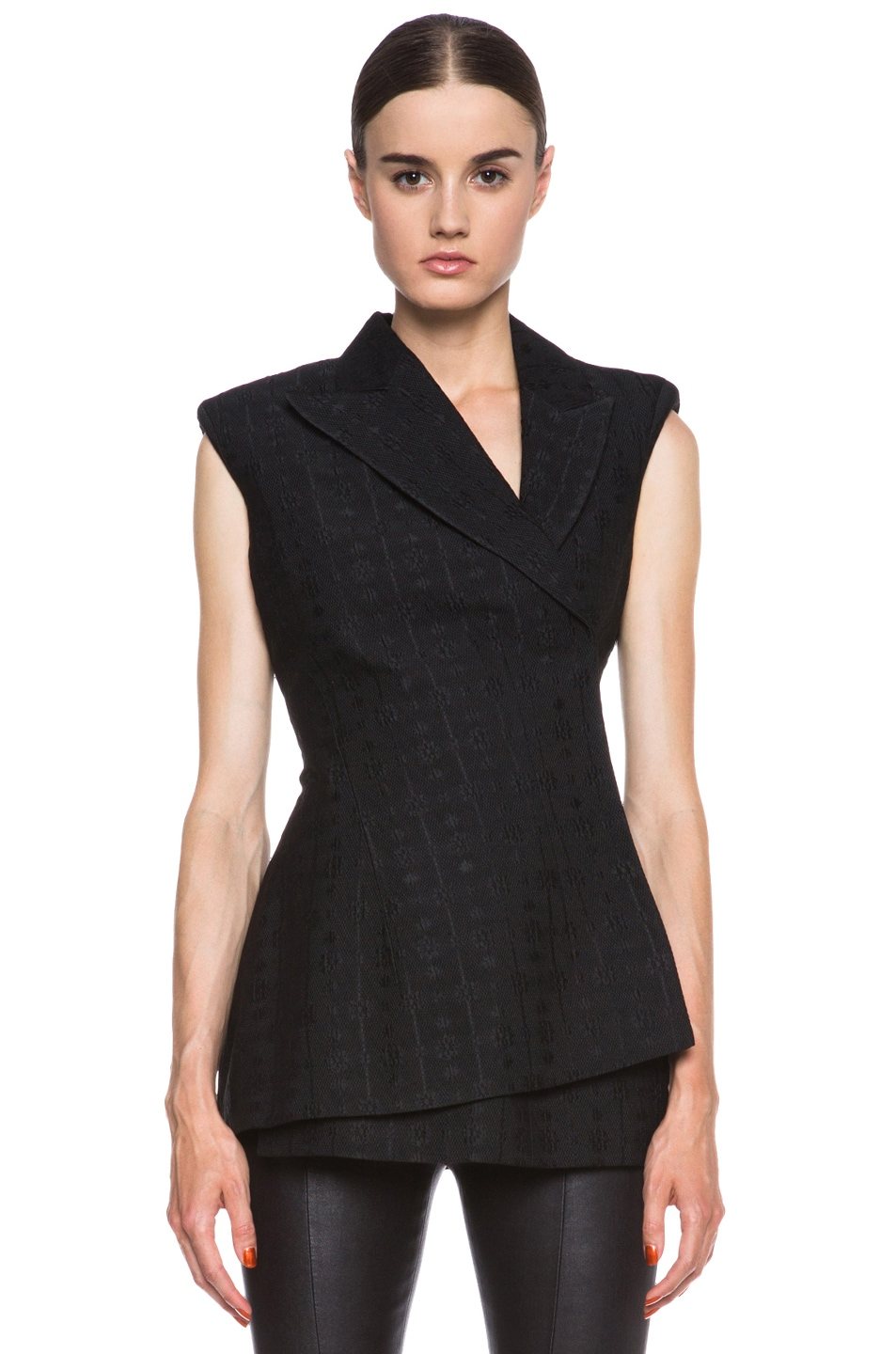 Image 1 of Stella McCartneyEloise Silk-Blend Blazer in Black