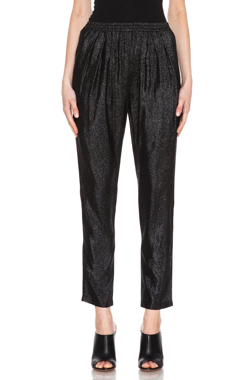 Image 1 of Stella McCartneyElastic Poly-Blend Trouser in Black Shine