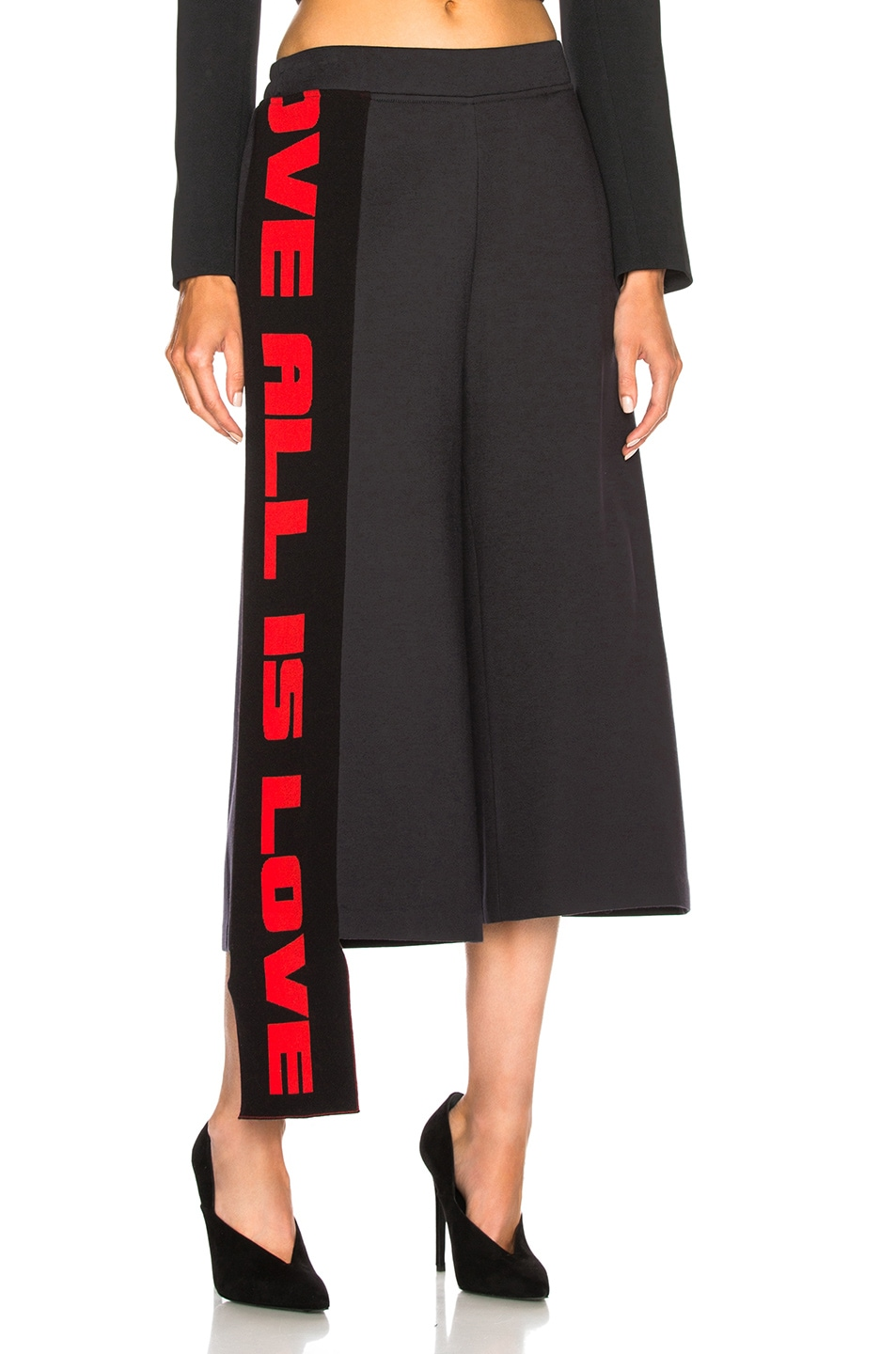 Image 1 of Stella McCartney Cropped Wide Leg Pants in Ink