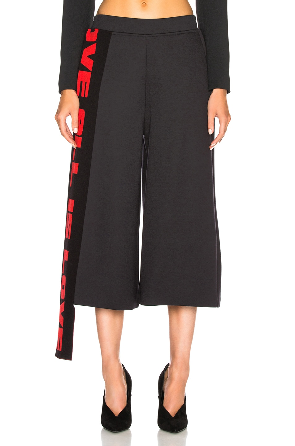 Image 2 of Stella McCartney Cropped Wide Leg Pants in Ink