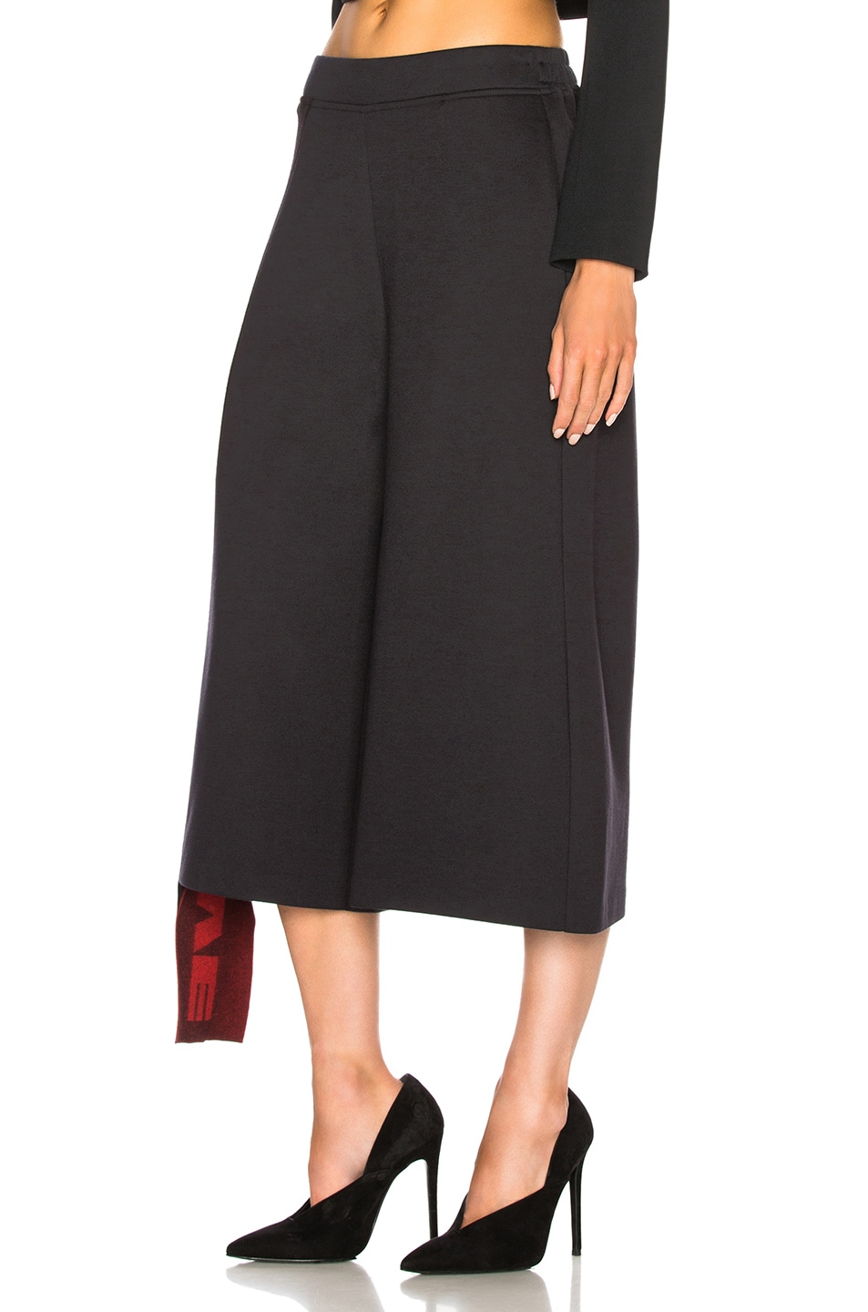 Image 4 of Stella McCartney Cropped Wide Leg Pants in Ink
