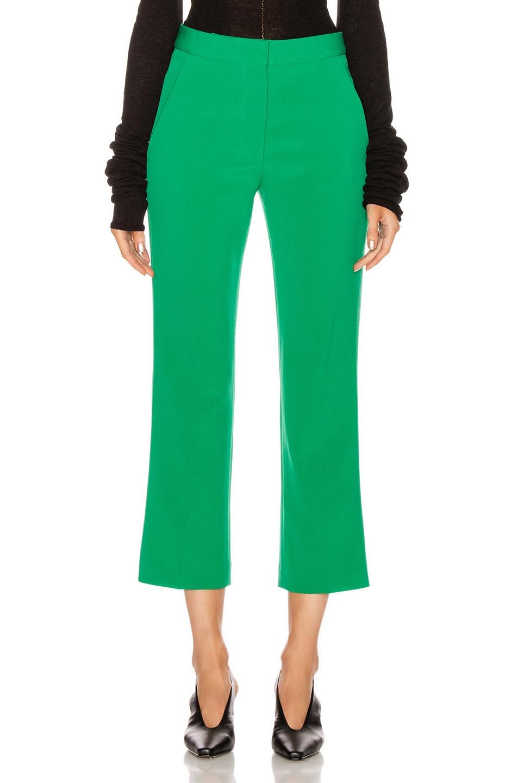 Image 1 of Stella McCartney Wide Leg Trouser in Sparkle Green