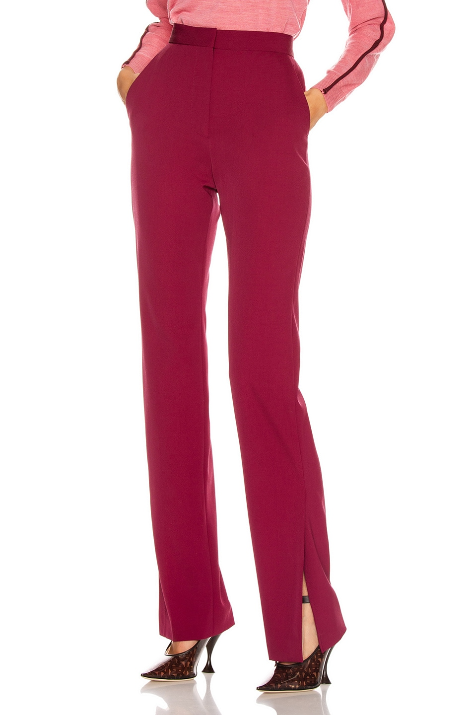 Image 1 of Stella McCartney Tailored Stretch Trouser in Dark Jazzberry