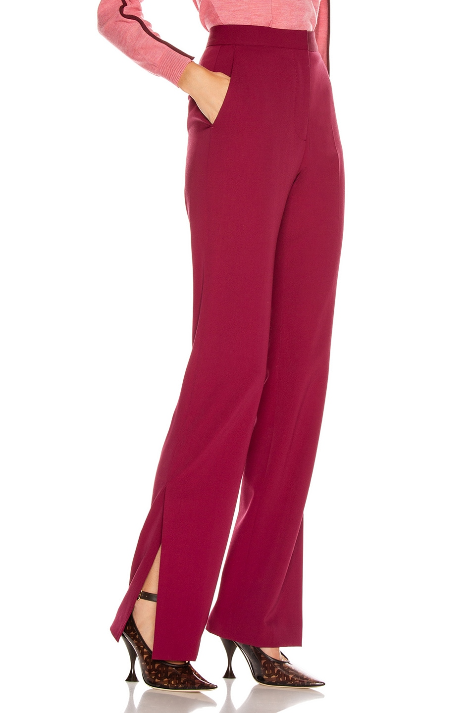 Image 2 of Stella McCartney Tailored Stretch Trouser in Dark Jazzberry