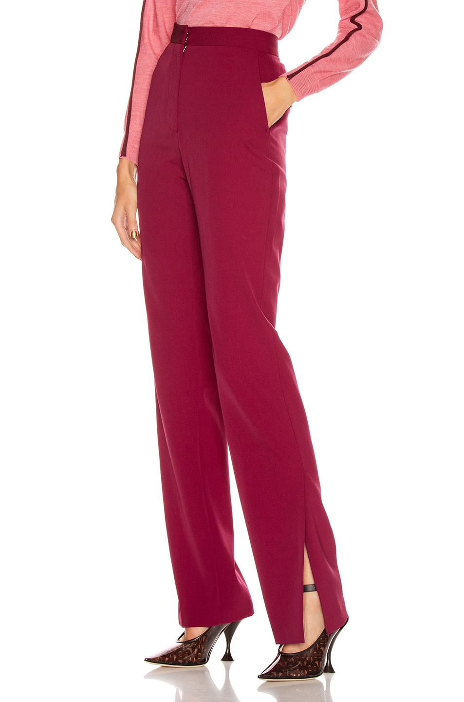 Image 3 of Stella McCartney Tailored Stretch Trouser in Dark Jazzberry