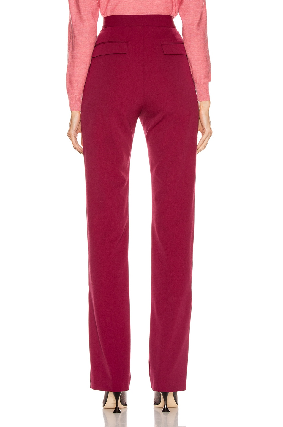 Image 4 of Stella McCartney Tailored Stretch Trouser in Dark Jazzberry