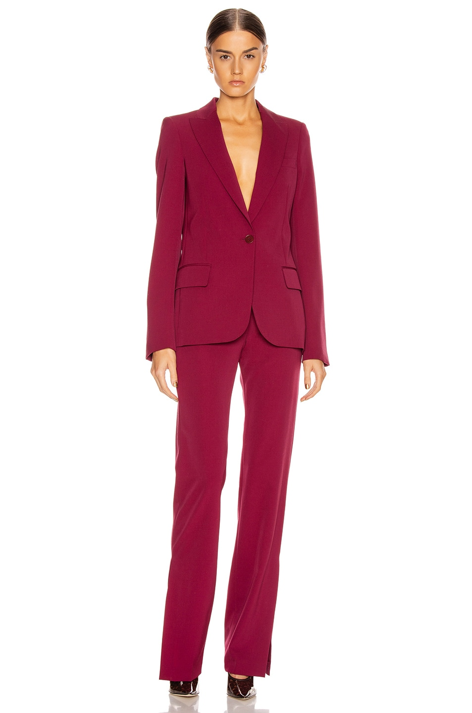 Image 5 of Stella McCartney Tailored Stretch Trouser in Dark Jazzberry