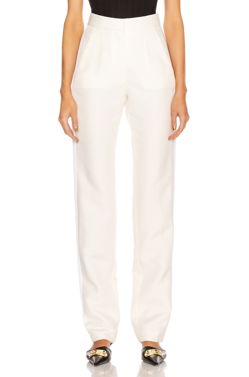Image 1 of Stella McCartney Mikado Wool Trouser in Winter White
