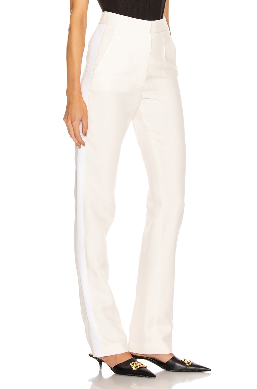 Image 2 of Stella McCartney Mikado Wool Trouser in Winter White