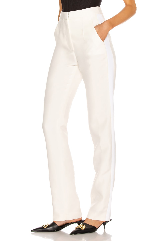Image 3 of Stella McCartney Mikado Wool Trouser in Winter White