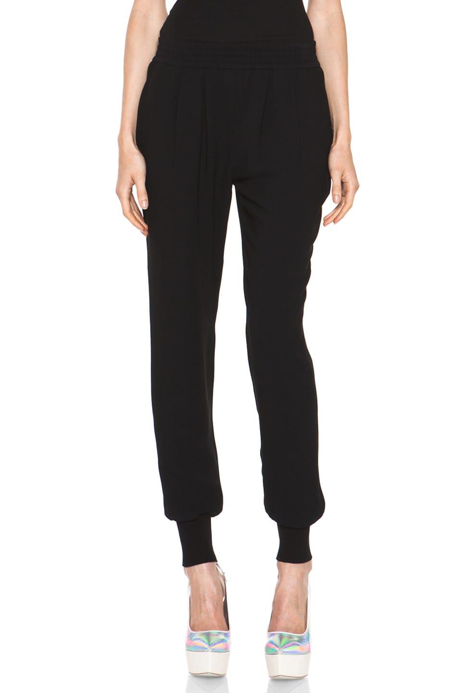 Image 1 of Stella McCartney Dahlia Mix Cady Trouser in Black