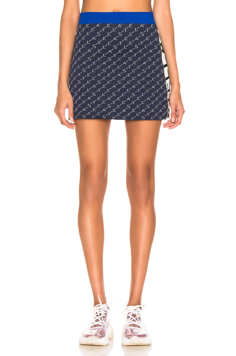 Image 2 of Stella McCartney Mini Skirt in Ink Colourway