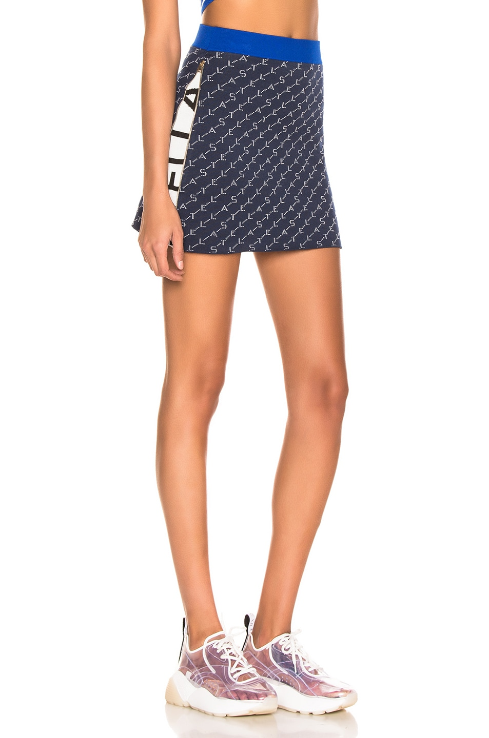Image 3 of Stella McCartney Mini Skirt in Ink Colourway