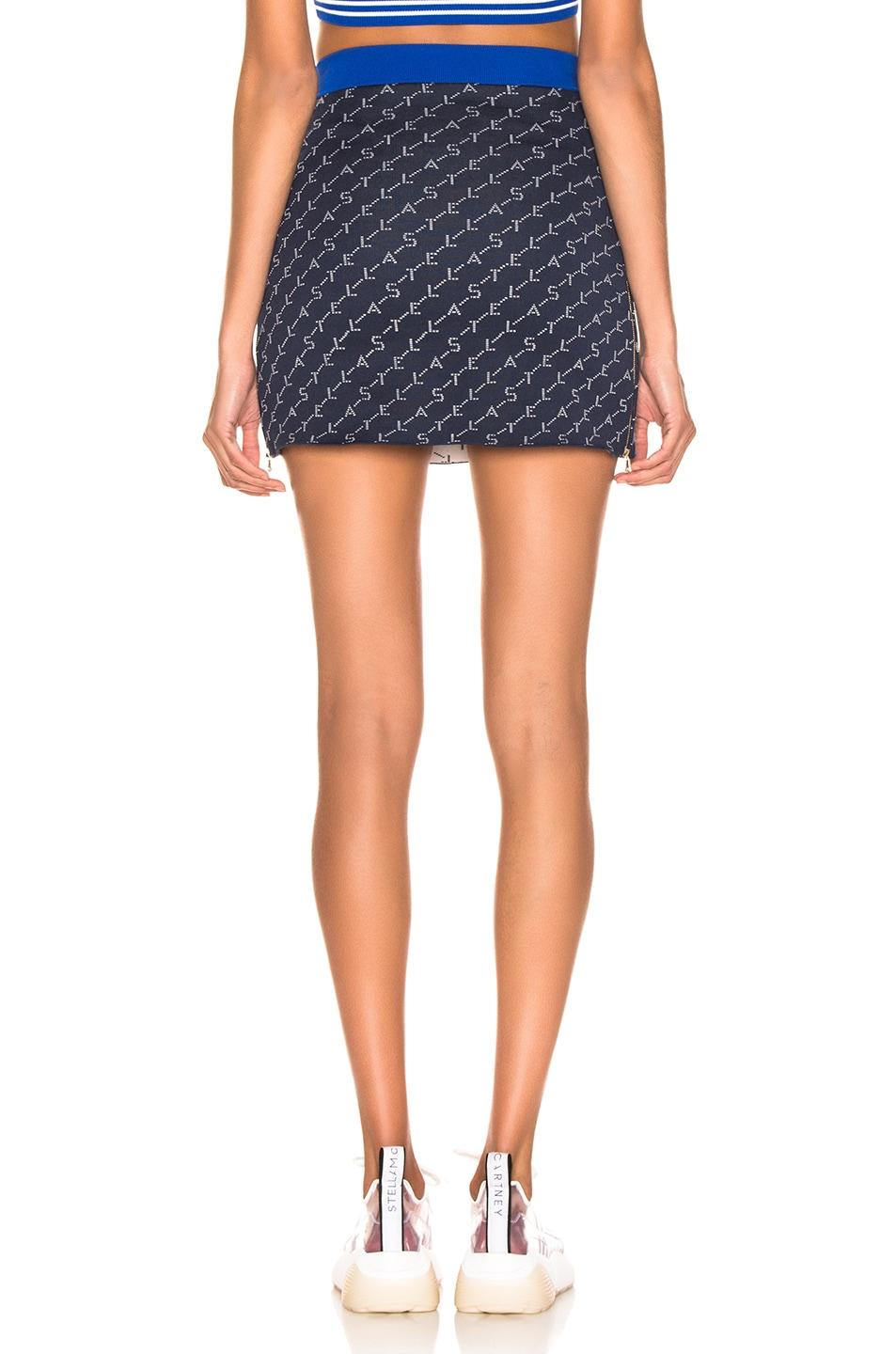 Image 4 of Stella McCartney Mini Skirt in Ink Colourway