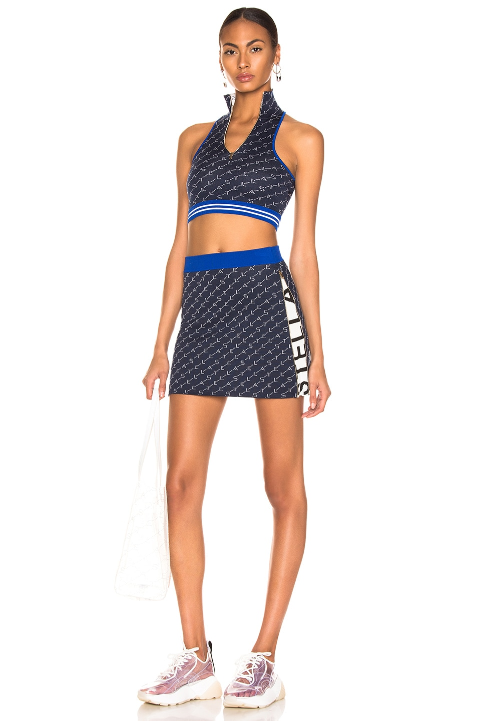 Image 5 of Stella McCartney Mini Skirt in Ink Colourway