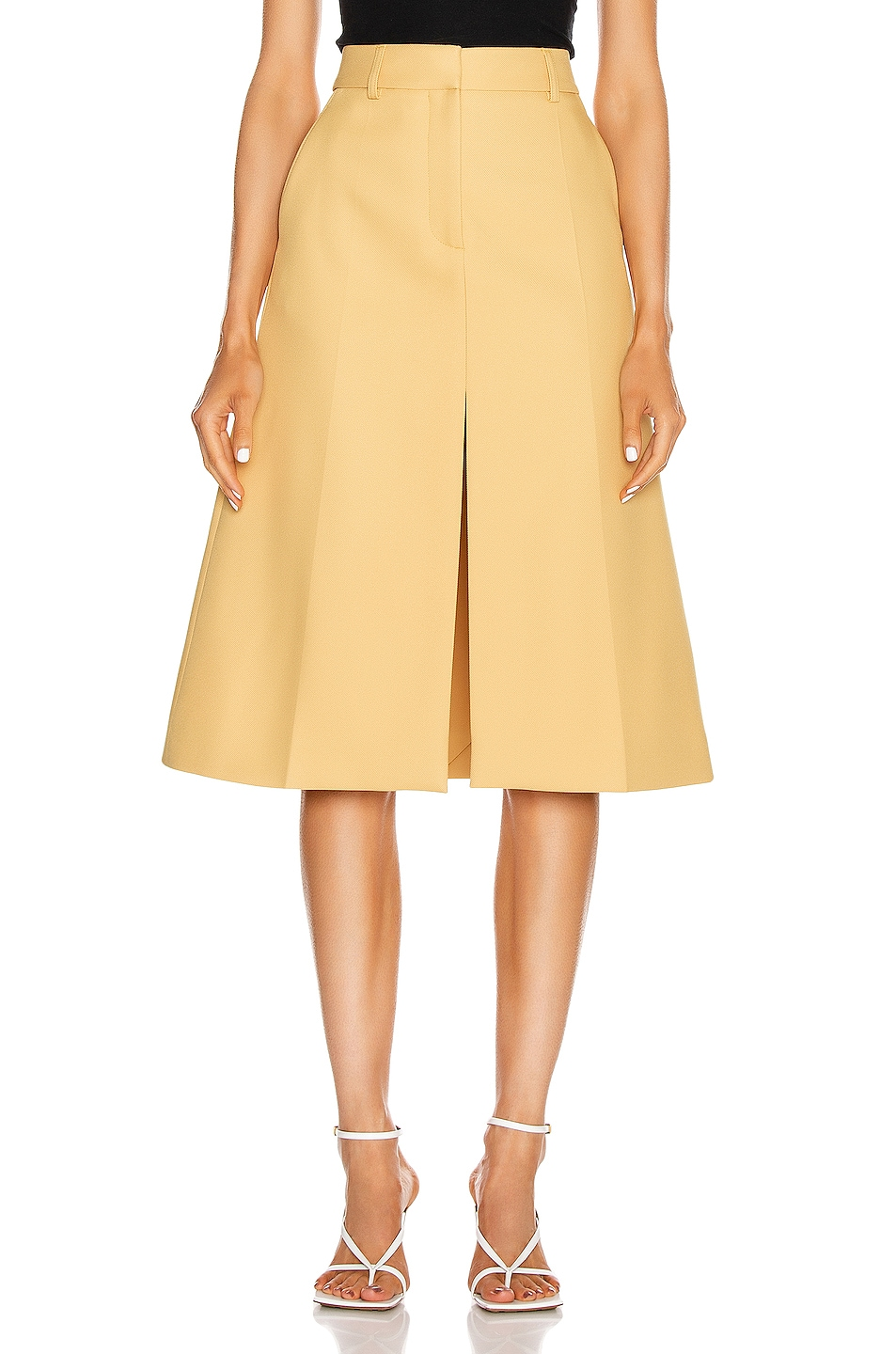Image 1 of Stella McCartney Alisha Tailored Skirt in Camomille