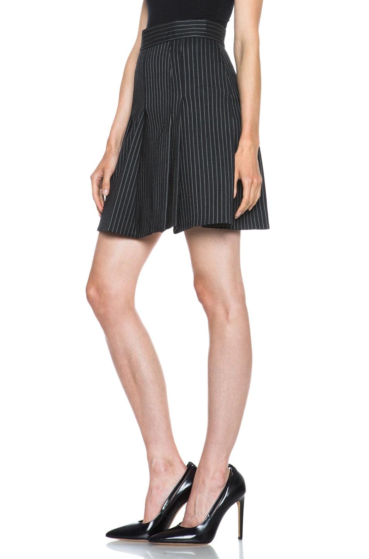 Image 2 of Stella McCartney Valencia Pinstripe Wool-Blend Skirt in Charcoal