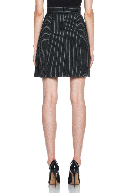Image 4 of Stella McCartney Valencia Pinstripe Wool-Blend Skirt in Charcoal