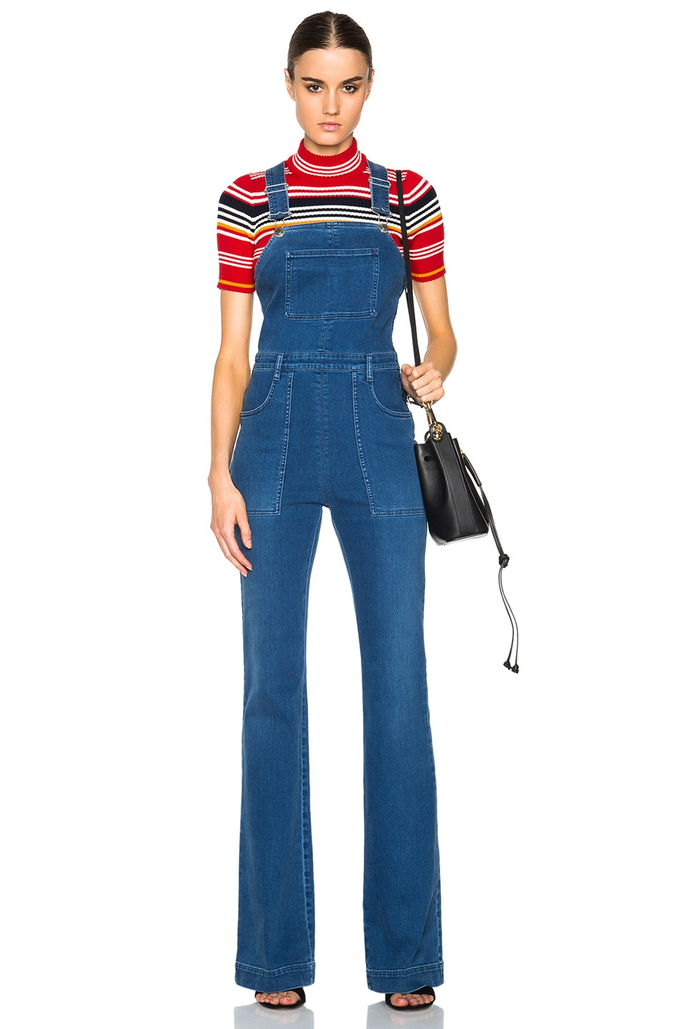 Image 1 of Stella McCartneyDenim Dungarees in Pale Blue