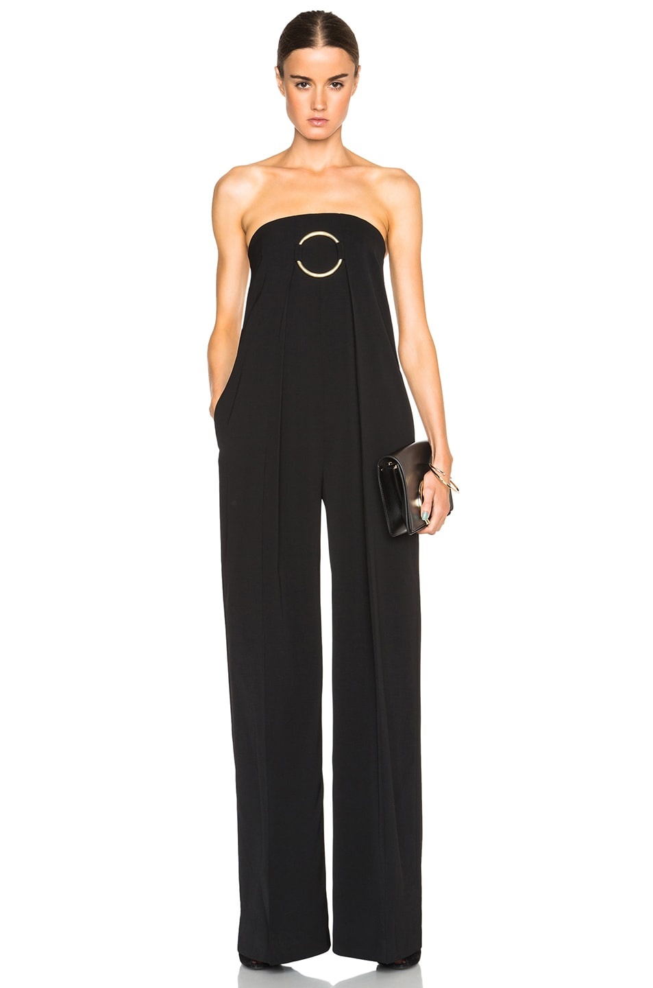 45d74b8b4b55 Image 1 of Stella McCartney Clements Dry Wool Jumpsuit in Black