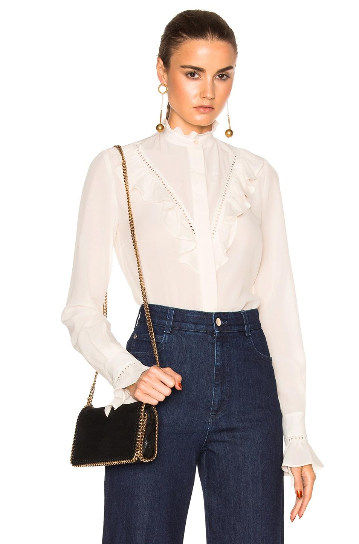 Image 1 of Stella McCartney Silk Crepe Shirt in Natural