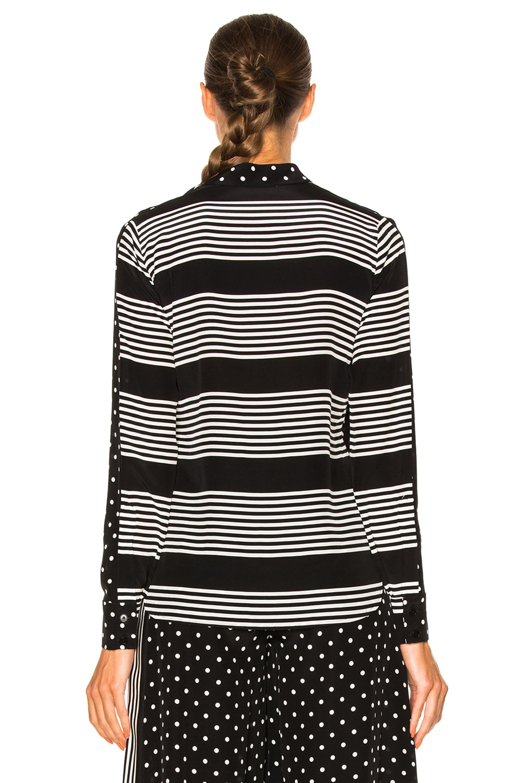 Image 4 of Stella McCartney Silk Polka Dot Blouse in Black
