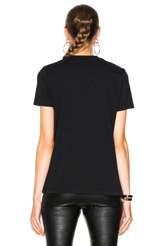 Image 4 of Stella McCartney Asymmetric Hem Graphic Tee in Black