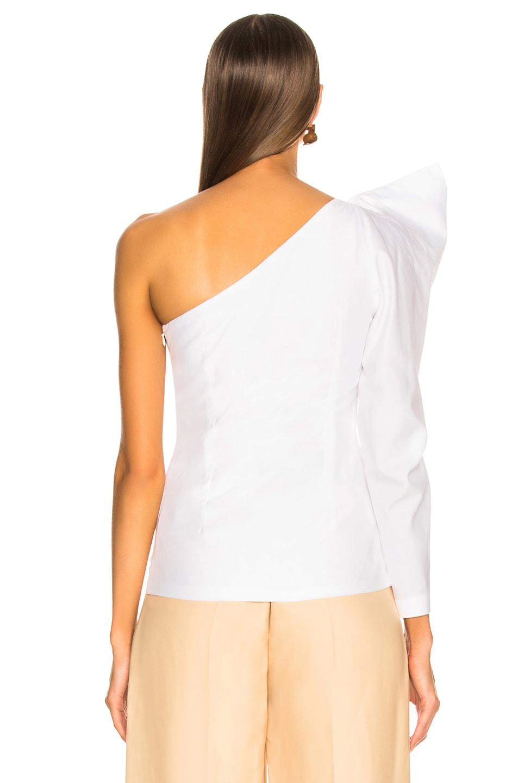 Image 5 of Stella McCartney Giada One Shoulder Shirt in Pure White