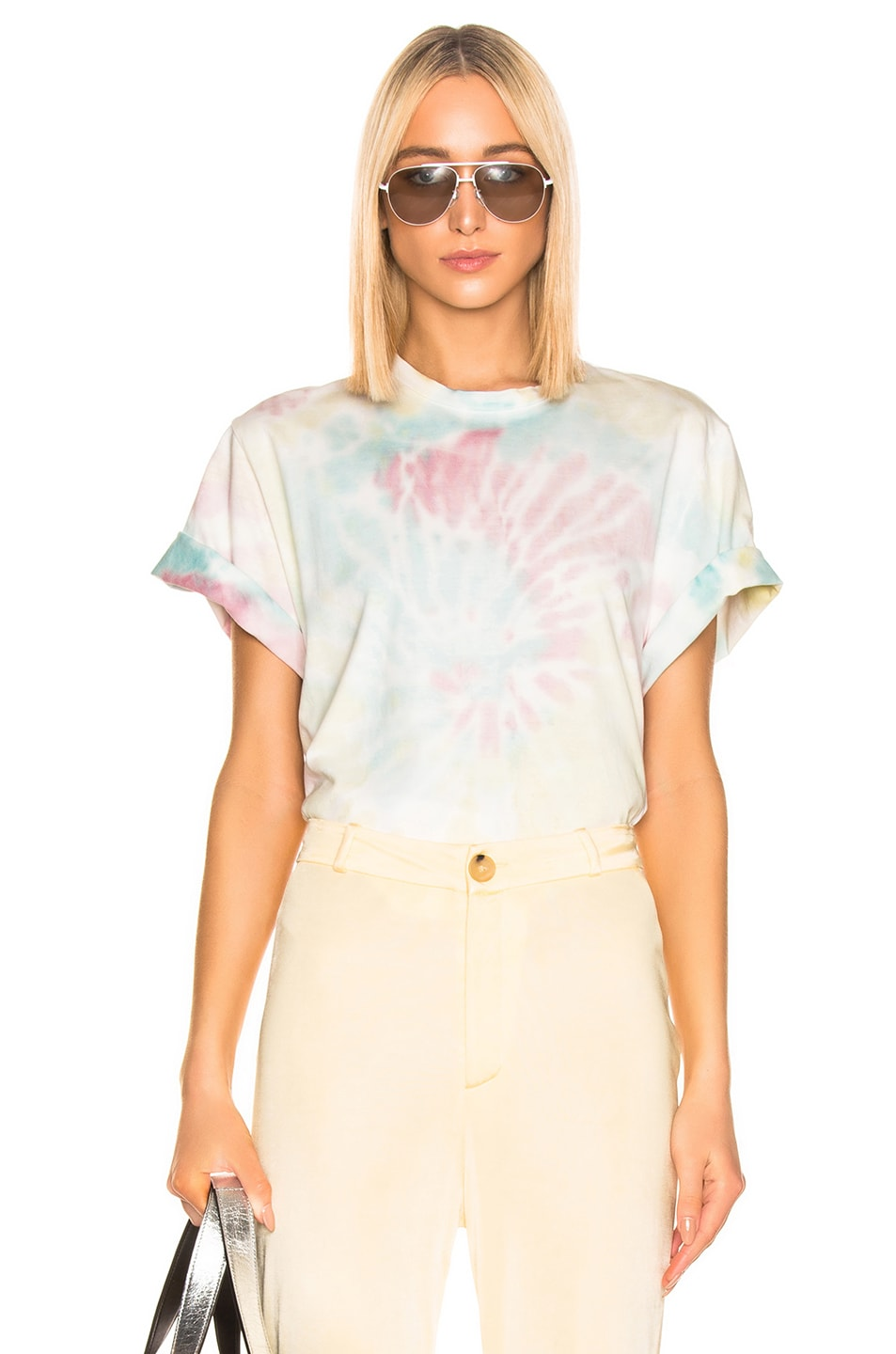 Image 1 of Stella McCartney Tie Dye Tee Shirt in Pink & Blue