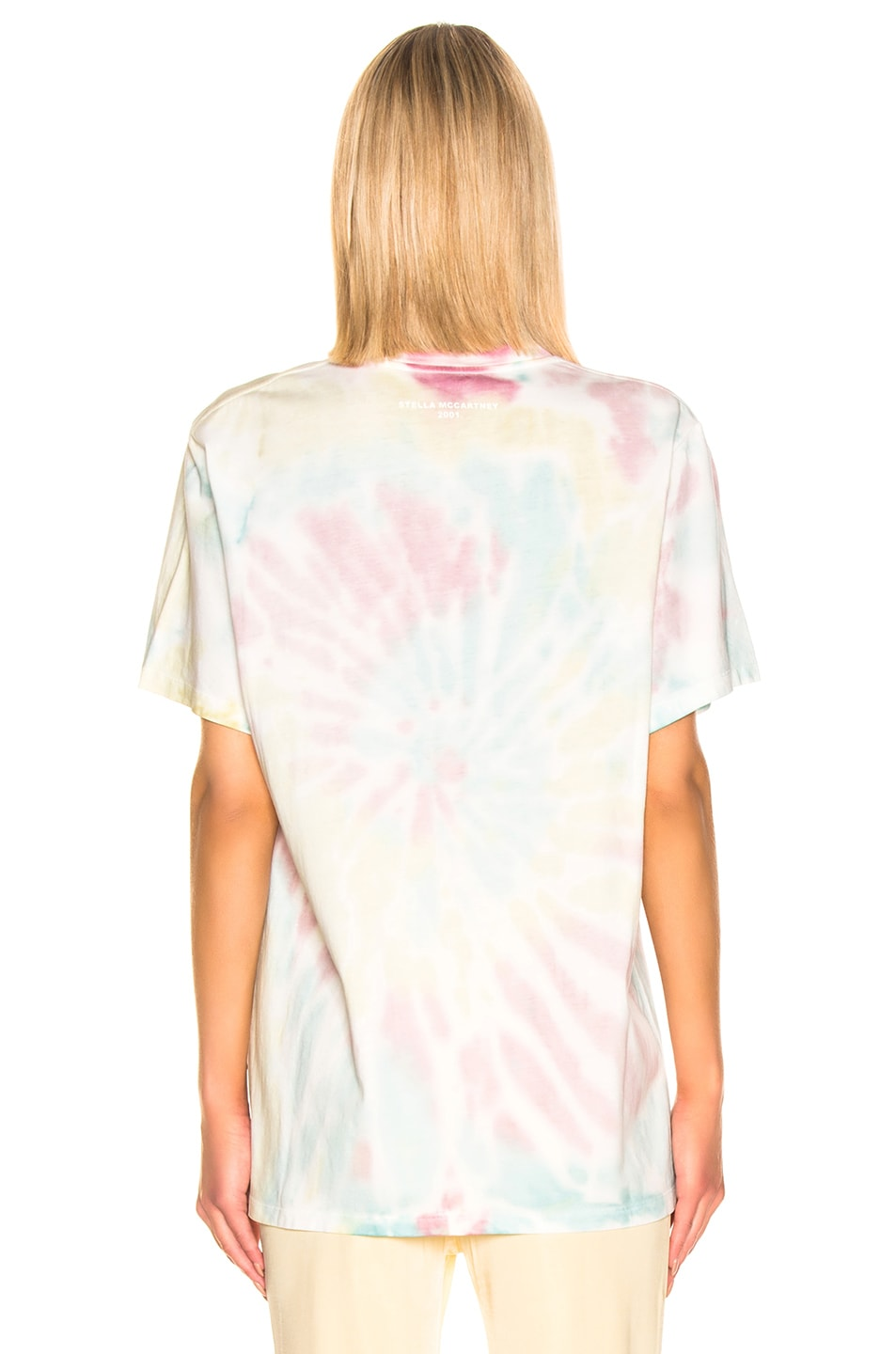 Image 3 of Stella McCartney Tie Dye Tee Shirt in Pink & Blue