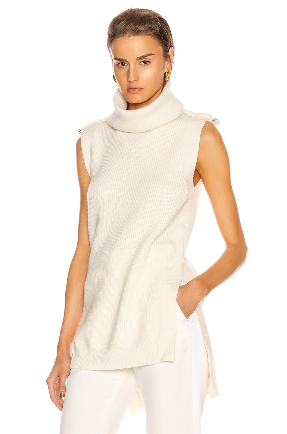 Image 1 of Stella McCartney Military Sleeveless Top in Winter White