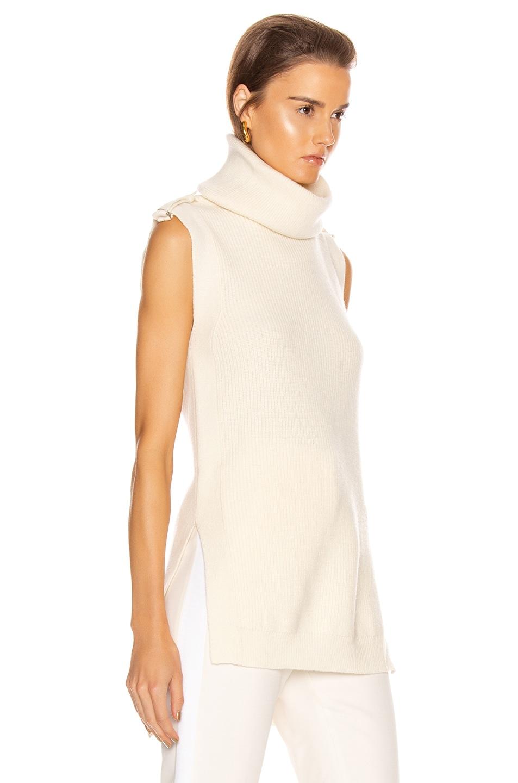 Image 2 of Stella McCartney Military Sleeveless Top in Winter White